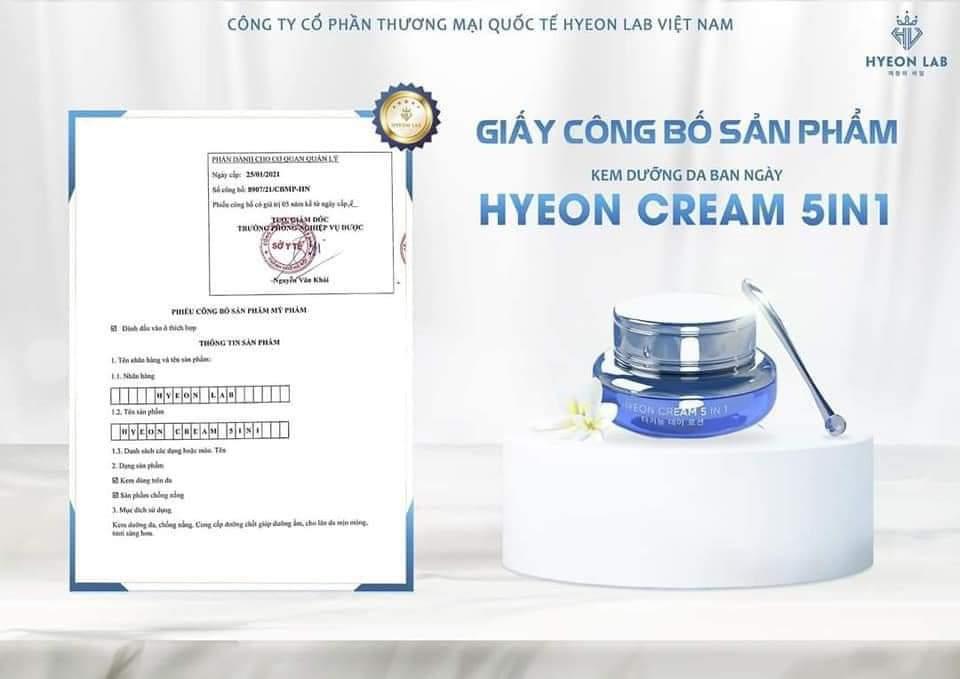 Kem dưỡng da ban ngày Hyeon lab (5 in 1 Plus).