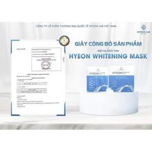 Mặt nạ thủy tinh căng bóng Hyeon Lab (Hộp 5 miếng)