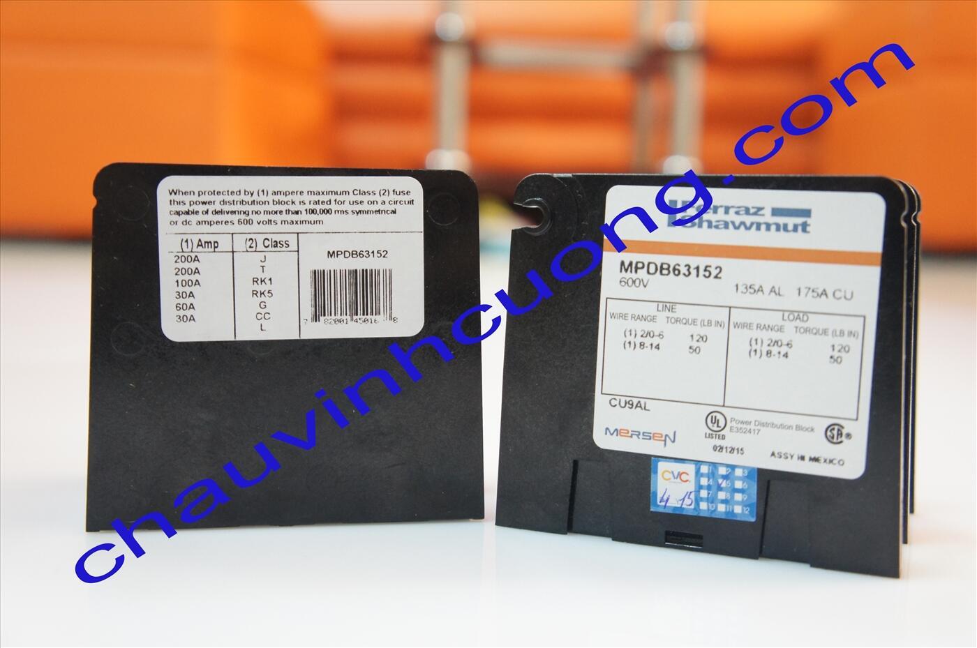 Hộp phân phối điện Ferraz Shawmut MPDB63152