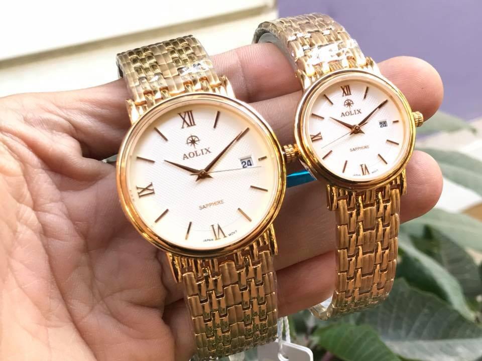 Đồng hồ cặp đôi chính hãng Aolix al 9100 - mkt