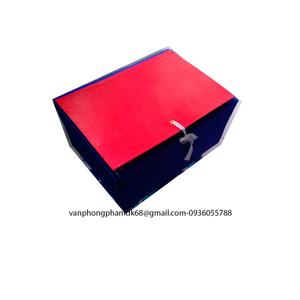 File hộp gấp 3 dây bìa cứng