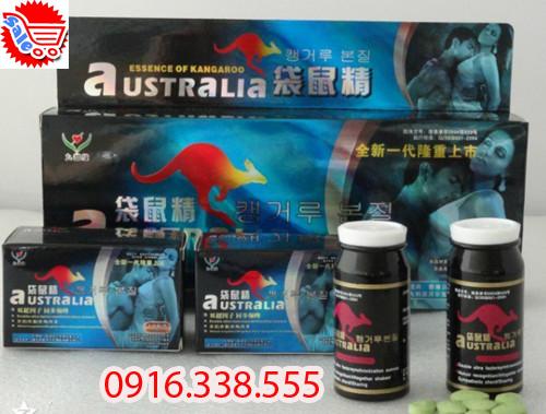 THUỐC HỖ TRỢ Cương Dương Chuột Túi Australia kangaroo pills Biệt Chất 2500MG