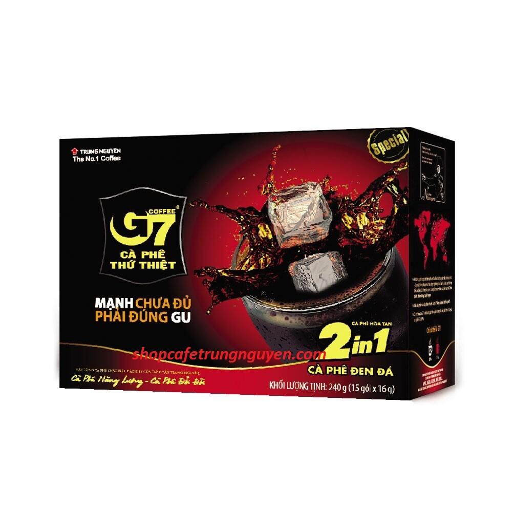 Cà phê G7 hòa tan ( 2in 1) Đen Đường