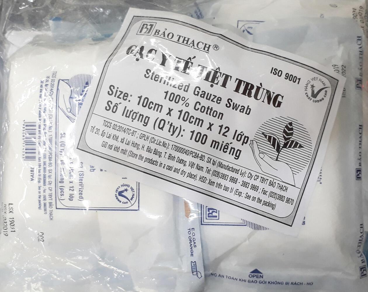 Gạc y tế tiệt trùng Bảo Thạch