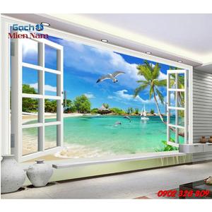 Gạch 3d ốp tường mẫu cửa sổ CS01