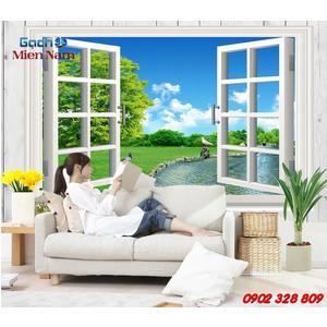 Gạch 3d ốp tường mẫu cửa sổ CS02