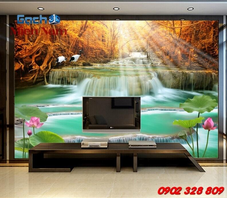 Gạch 3d ốp tường phòng khách TNM306