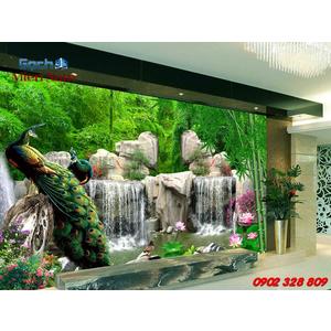 Gạch 3d ốp tường phòng khách TNM298