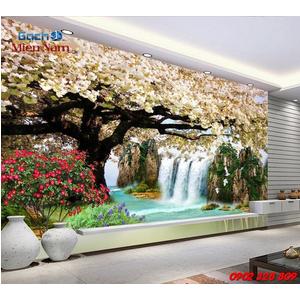Gạch 3d ốp tường phòng khách TNM299