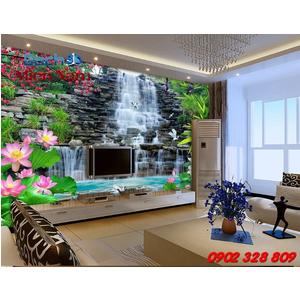 Gạch 3d ốp tường phòng khách TNM300