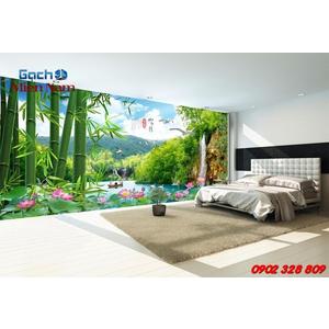 Gạch 3d ốp tường phòng khách TNM303