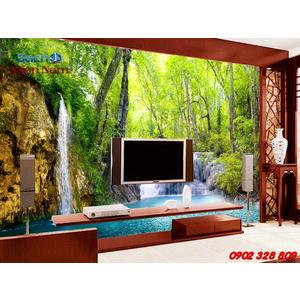 Gạch 3d ốp tường phòng khách TNM323