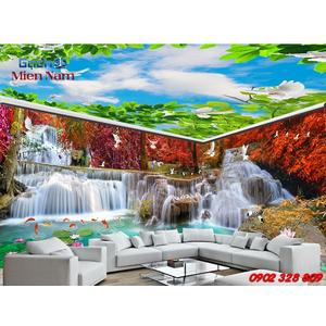 Gạch 3d ốp tường phòng khách TNM325