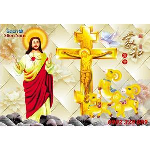 Gạch 3d Thiên Chúa TCT57