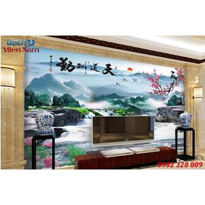 Gạch 3d tranh sơn thủy hũu tình ST400