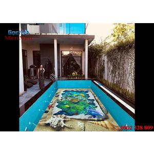 Gạch lát nền 3D bể bơi GHB07