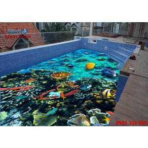 Gạch lát nền 3D bể bơi GHB08