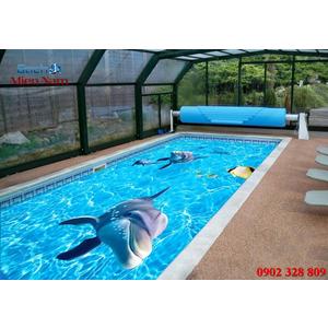 Gạch lát nền 3D bể bơi GHB09
