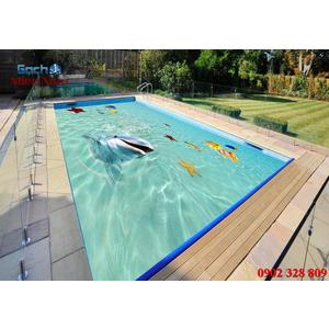 Gạch lát nền 3D bể bơi GHB10