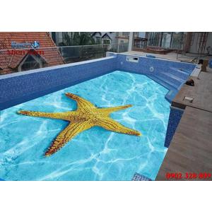Gạch lát nền 3D bể bơi GHB11