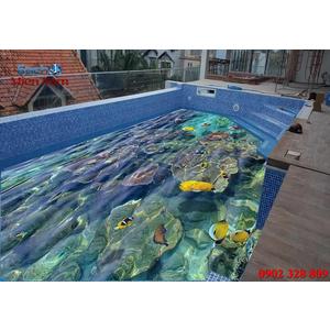 Gạch lát nền 3D bể bơi GHB12
