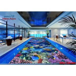 Gạch lát nền 3D bể bơi GHB13