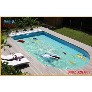 Gạch lát nền 3D bể bơi GHB14