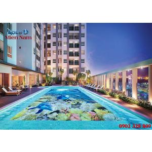 Gạch lát nền 3D bể bơi GHB15