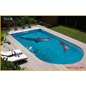 Gạch lát nền 3D bể bơi GHB16