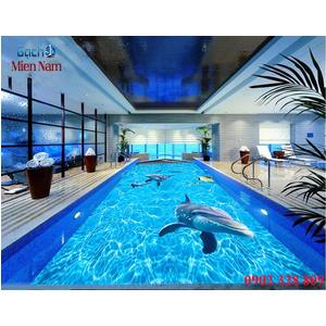Gạch lát nền 3D bể bơi GHB18