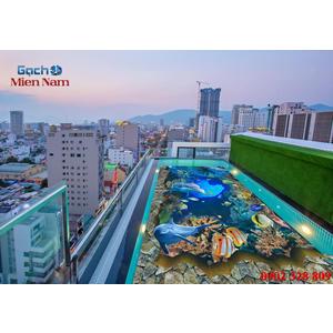 Gạch lát nền 3D bể bơi GHB19