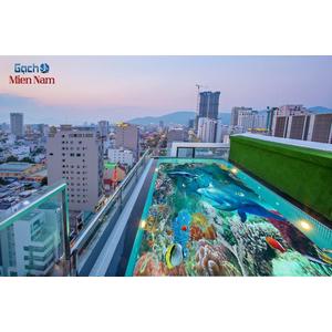 Gạch lát nền 3D bể bơi GHB22