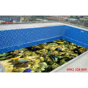 Gạch lát nền 3D bể bơi GHB23