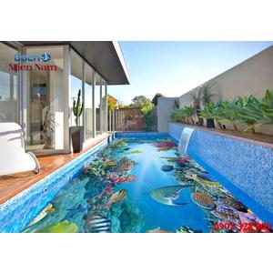Gạch lát nền 3D bể bơi GHB24