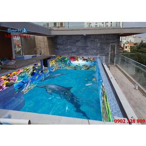 Gạch lát nền 3D bể bơi GHB25