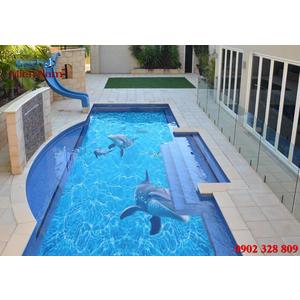 Gạch lát nền 3D bể bơi GHB27