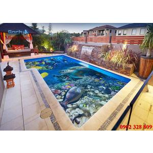 Gạch lát nền 3D bể bơi GHB28