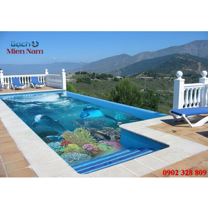 Gạch lát nền 3D bể bơi GHB29
