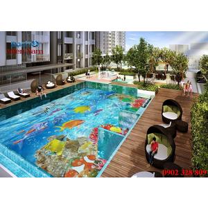 Gạch lát nền 3D bể bơi GHB30