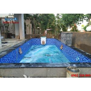 Gạch lát nền 3D bể bơi GHB31