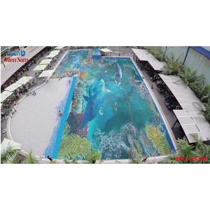 Gạch lát nền 3D bể bơi GHB32