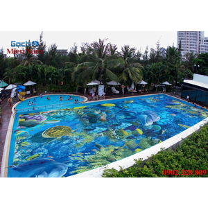 Gạch lát nền 3D bể bơi GHB33