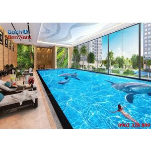 Gạch lát nền 3D bể bơi GHB35