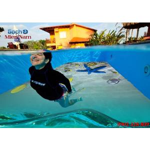 Gạch lát nền 3D bể bơi GHB38