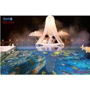 Gạch lát nền 3D bể bơi GHB40