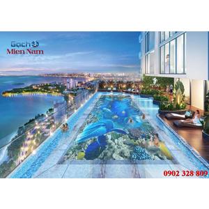 Gạch lát nền 3D bể bơi GHB42