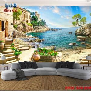 Gạch tranh 3d bãi biển đẹp BBM12