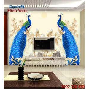 Gạch Tranh 3D Chim Công CCM85