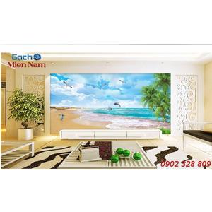 Gạch Tranh 3d Mây Biển CB29