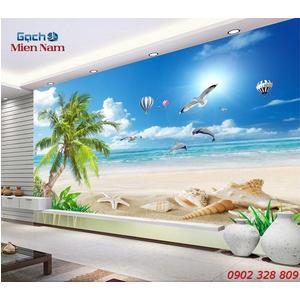 Gạch Tranh 3d Mây Biển CB30